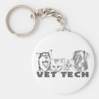 Tecnología del veterinario llavero redondo tipo pin