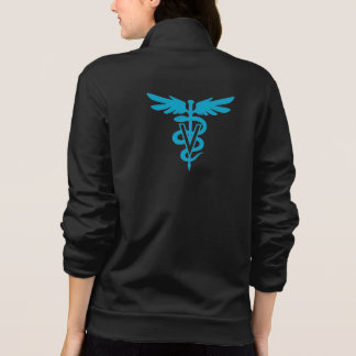 Tecnología del veterinario - símbolo veterinario chaqueta imprimida