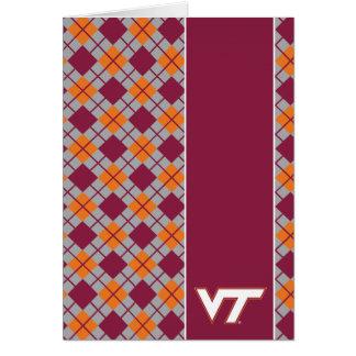 Tecnología del VT Virginia Tarjeta De Felicitación