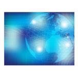 Tecnología - fondo tarjeta postal