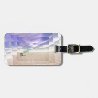 Tecnología láser verde etiquetas maletas