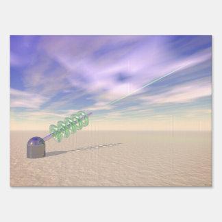Tecnología láser verde letreros