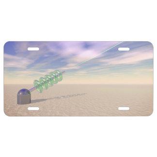 Tecnología láser verde placa de matrícula