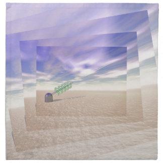 Tecnología láser verde servilleta de papel
