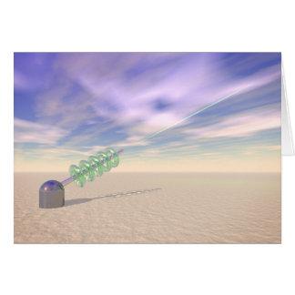 Tecnología láser verde tarjeta de felicitación