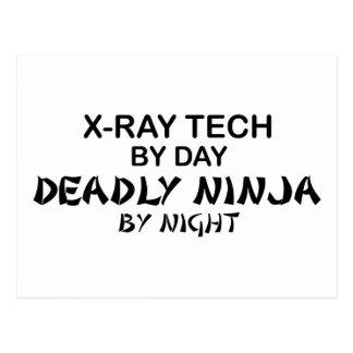 Tecnología Ninja mortal de la radiografía Postal
