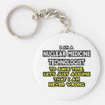 Tecnología nuclear de la medicina. Nunca perjudiqu Llaveros Personalizados
