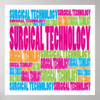 Tecnología quirúrgica colorida posters
