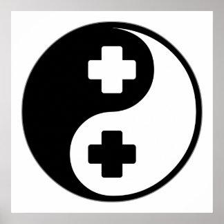 Tecnología quirúrgica de Yin Yang Poster