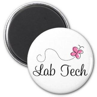 Tecnología rosada linda del laboratorio de la mari imán redondo 5 cm