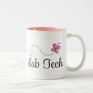 Tecnología rosada linda del laboratorio de la mari taza dos tonos