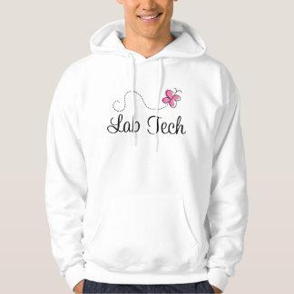 Tecnología rosada linda del laboratorio de la pulóver