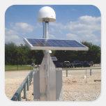 Tecnología solar pegatinas cuadradas