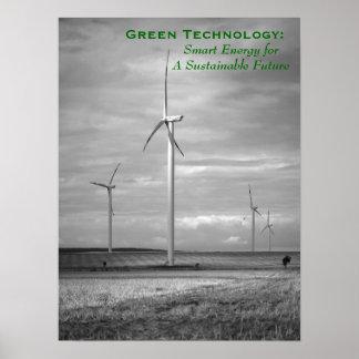 Tecnología verde: Energía elegante Póster
