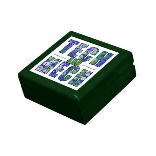 Tecnología y Mech azules Caja De Joyas