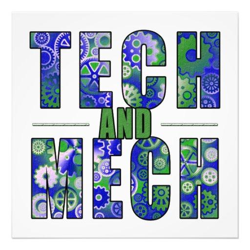 Tecnología y Mech azules Impresiones Fotográficas