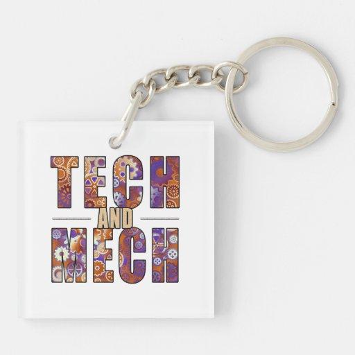 Tecnología y Mech oxidados Llaveros