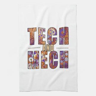 Tecnología y Mech oxidados Toalla