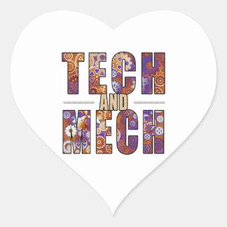 Tecnología y Mech oxidados Colcomanias Corazon