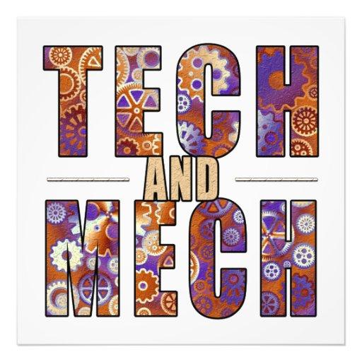 Tecnología y Mech oxidados Impresiones Fotograficas