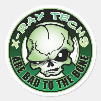 Tecnologías de la radiografía Malo al hueso Pegatinas