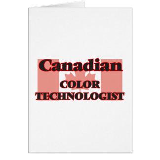 Tecnólogo canadiense del color tarjeta de felicitación