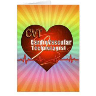 Tecnólogo cardiovascular del LOGOTIPO del CORAZÓN Tarjeta De Felicitación
