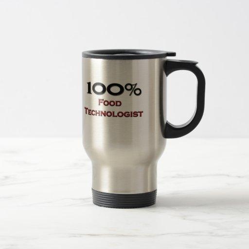 Tecnólogo de la comida del 100 por ciento taza de café
