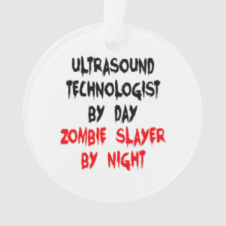 Tecnólogo del ultrasonido del asesino del zombi