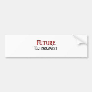 Tecnólogo futuro pegatina de parachoque