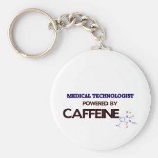 Tecnólogo médico accionado por el cafeína llavero redondo tipo pin