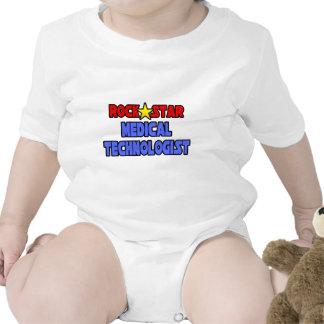 Tecnólogo médico de la estrella del rock trajes de bebé