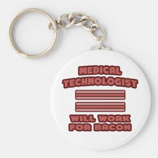 Tecnólogo médico. Trabajará para el tocino Llavero Redondo Tipo Pin