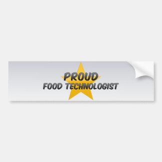 Tecnólogo orgulloso de la comida etiqueta de parachoque