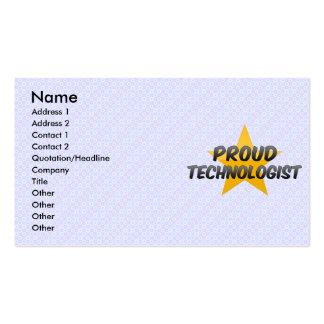 Tecnólogo orgulloso tarjetas de visita