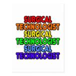 Tecnólogo quirúrgico del arco iris tarjeta postal