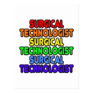 Tecnólogo quirúrgico del arco iris tarjetas postales