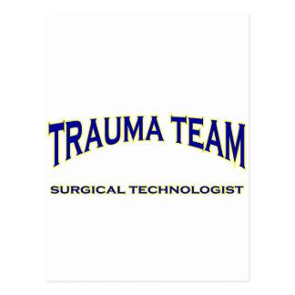 Tecnólogo quirúrgico - equipo del trauma (marina tarjetas postales