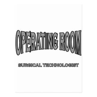 Tecnólogo quirúrgico - sala de operaciones (negro) postales