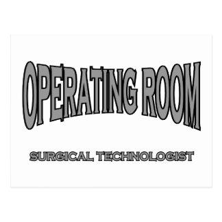 Tecnólogo quirúrgico - sala de operaciones (negro) tarjeta postal