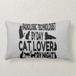 Tecnólogo radiológico del amante del gato cojín