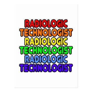 Tecnólogo radiológico del arco iris tarjeta postal