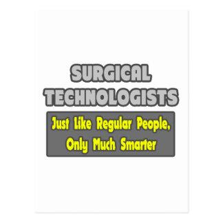 Tecnólogos quirúrgicos… más elegantes tarjeta postal