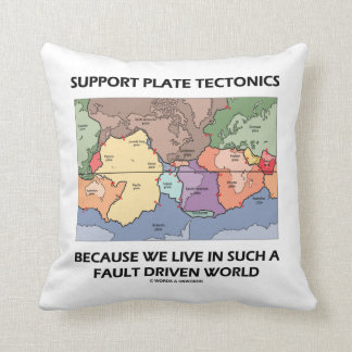 Tectónica de placas de la ayuda porque vivimos en almohada