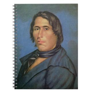 TECUMSEH (1768-1813) (aceite en lona) Spiral Notebooks