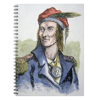 TECUMSEH (1768-1813) (grabado coloreado) Notebook