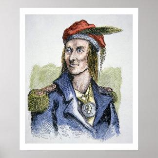 TECUMSEH (1768-1813) (grabado coloreado) Poster