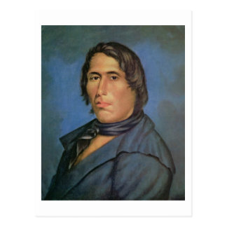Tecumseh (1768-1813) (oil on canvas) postcard
