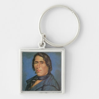 Tecumseh (1768-1813) (oil on canvas) Silver-Colored square keychain
