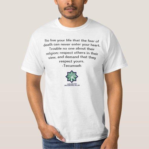 TECUMSEH - camisa del respecto